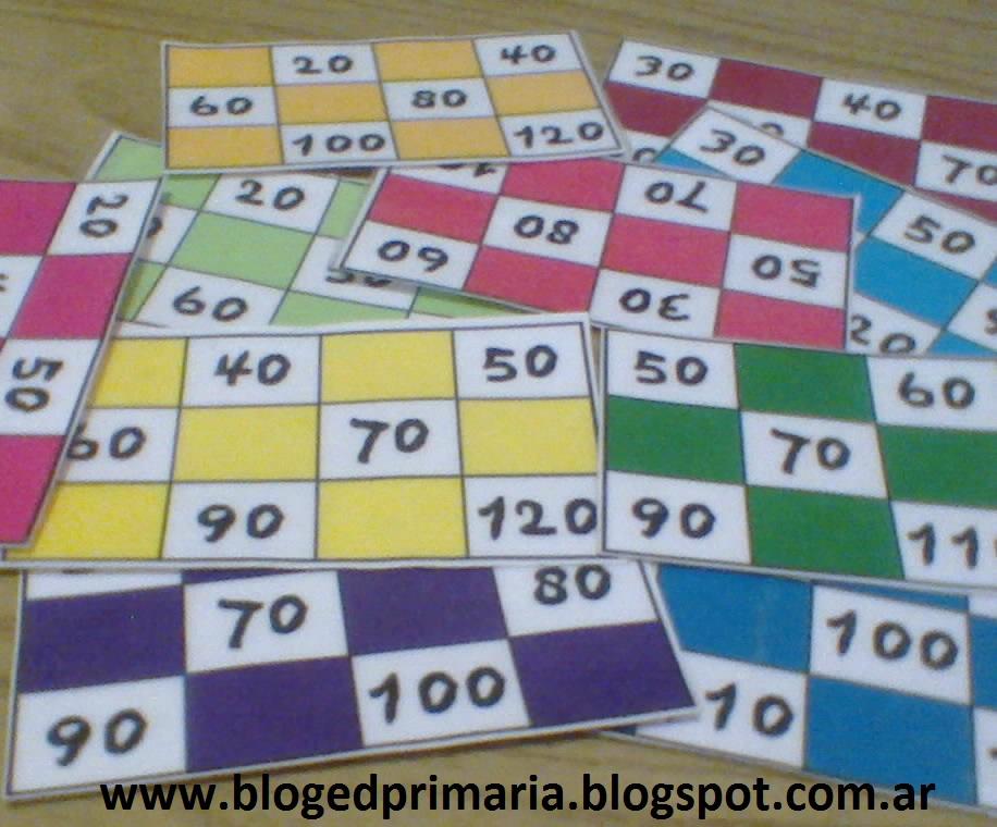 Cartones de lotería educativos