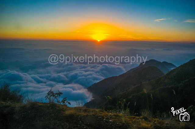 Sunset view from Zuluk