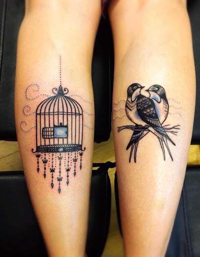 Estas incríveis pouco bezerro de tatuagens