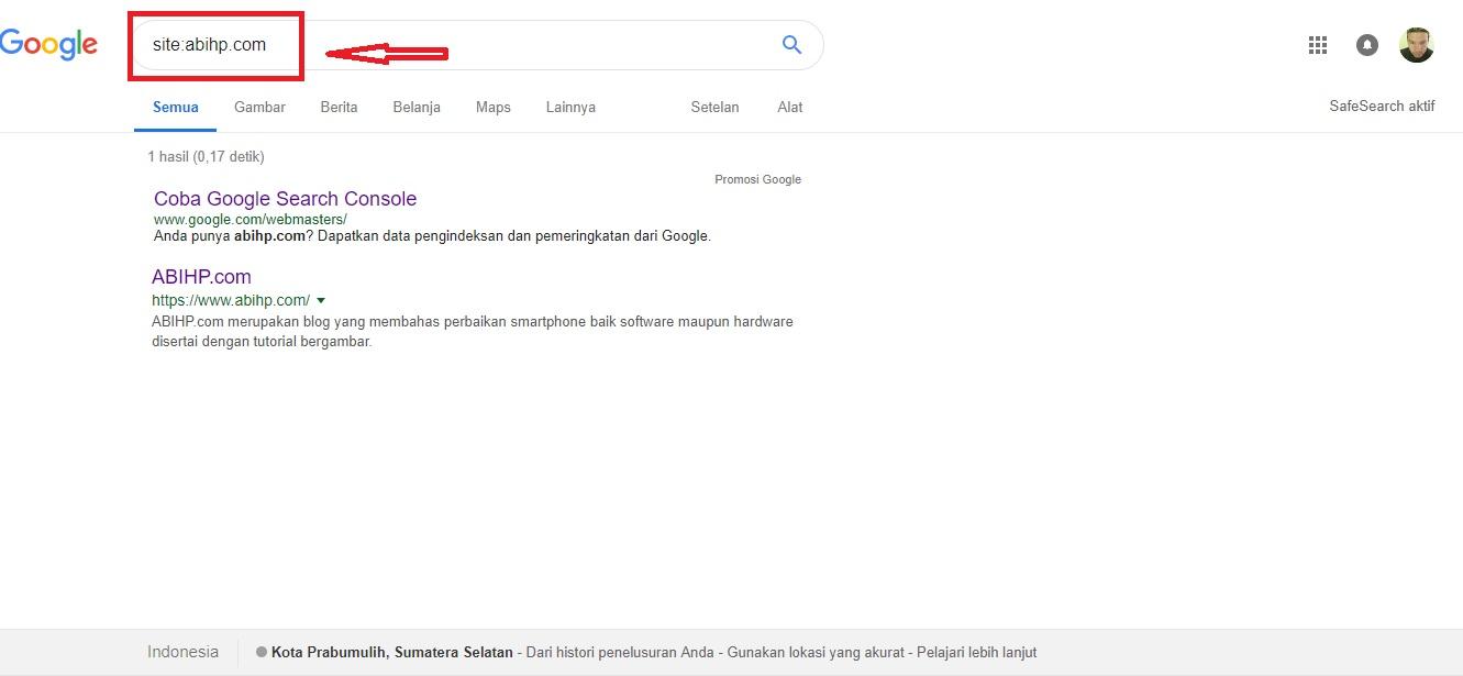 Muncul di halaman pencarian google.