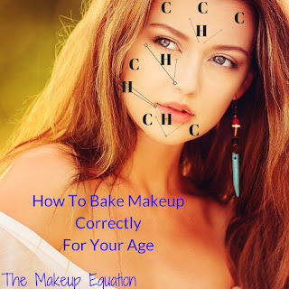 chart showing how to highlight and contour makeup on face