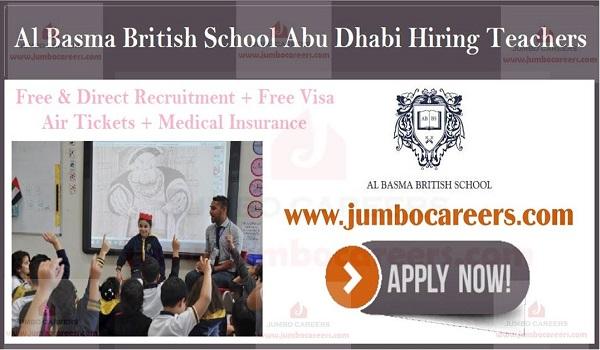 Teachers jobs with Free visa and air ticket, Current teachers jobs in UAE,