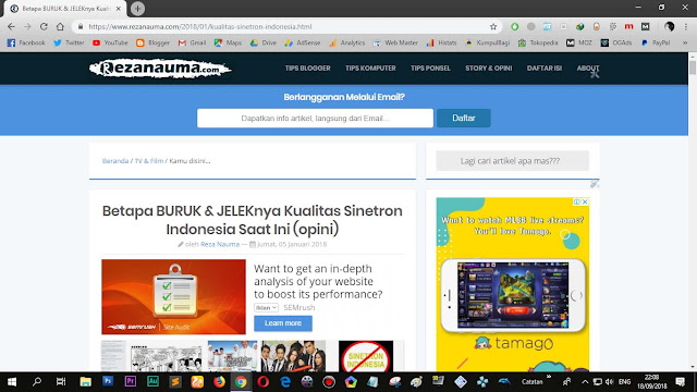 """Template dari Sugeng.id bernama """"Blogku"""""""