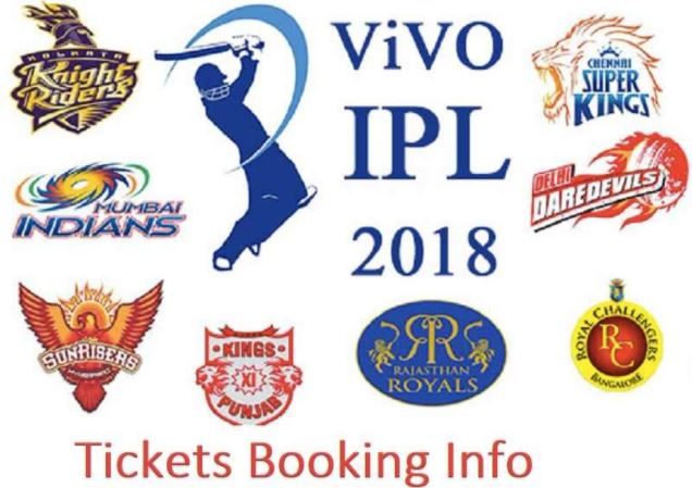 VIVO IPL 2018 Tickets Booking Information