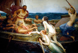 """The Sirens and Ulysses"" Herbert James Draper, 1909, The Odyssey, TheSirens, greek mythology"