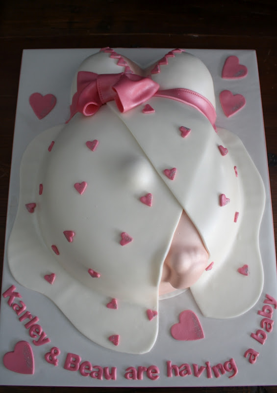 Sandy S Cakes Karley Amp Beau S Baby Shower Belly Cake