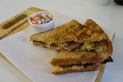 Bangkok, BKK Bagel, grilled cheese bacon sandwich