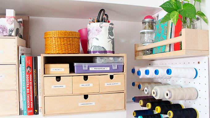 como organizar tu espacio de costura
