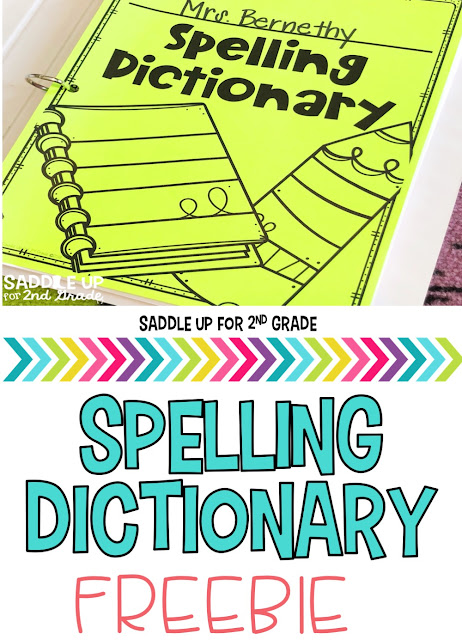 My writer's notebook is one of my favorite tools my students use during our writing block. This blog post walks you through how to set up your notebooks and is full of free resources to help you get started including this free spelling dictionary.