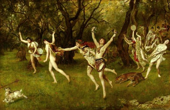 "The Honourable John Maler Collier OBE RP ROI (27 January 1850 – 11 April 1934) ""Maenads"""