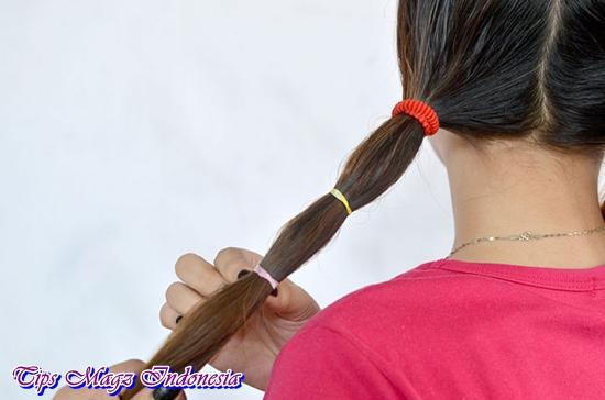 cara membuat rambut lurus secara alami dengan ikat rambut
