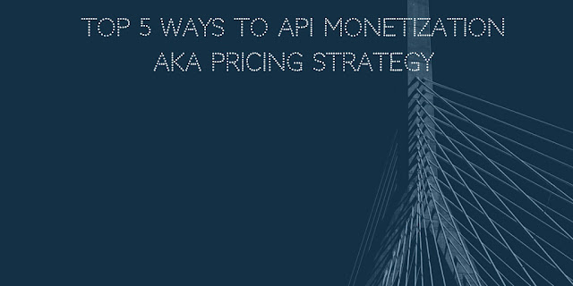 Top 5 ways to API monetization aka pricing strategy