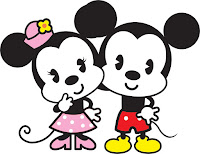 Mickey Minnie Cute Baby Vector PNG
