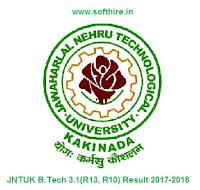 JNTUK B.Tech 3.1(R13, R10) Result