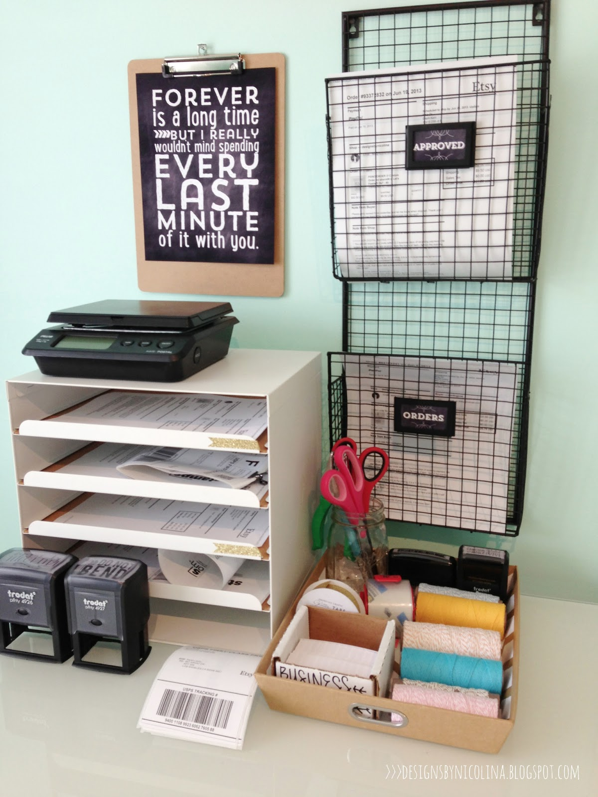 Designs By Nicolina Studio Office Tour Shipping Station