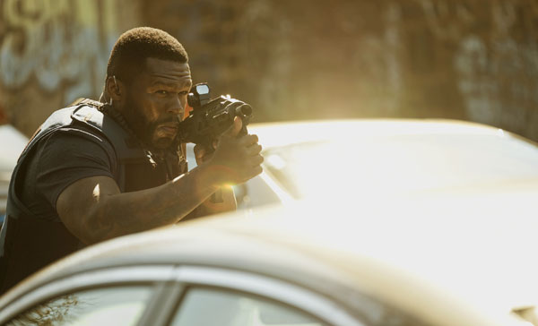 "Curtis ""50 Cent"" Jackson plays one of the bank robbers in DEN OF THIEVES (2018)"