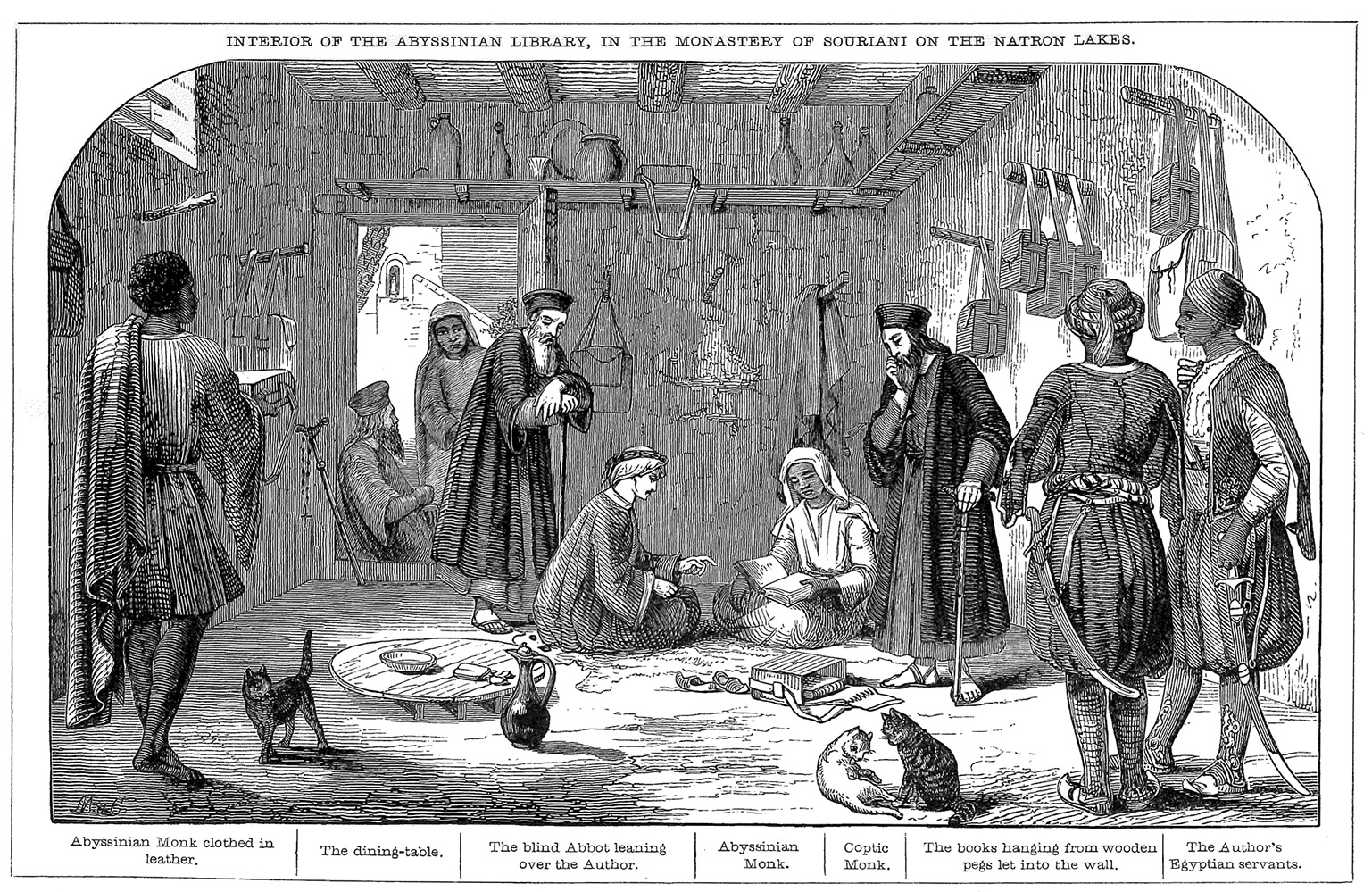 Fig. 3. Interior of the Abyssinian Library in the Monastery of Souriani on the Natron Lakes