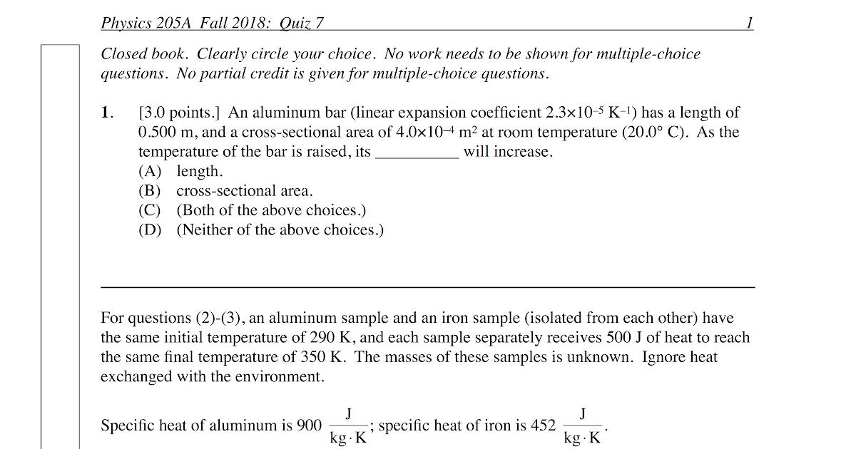 P-dog's blog: boring but important: Physics quiz archive