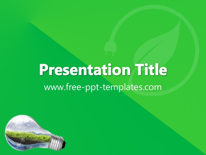 green energy ppt template, Presentation templates