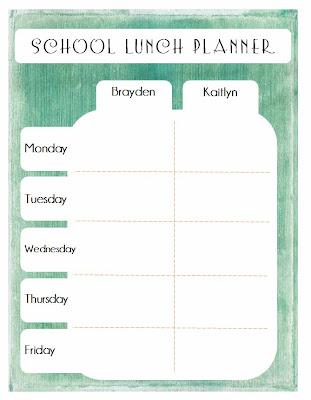 Organizing School Lunches