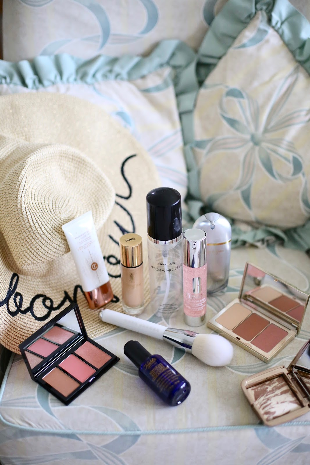 beauty blogger flatlay