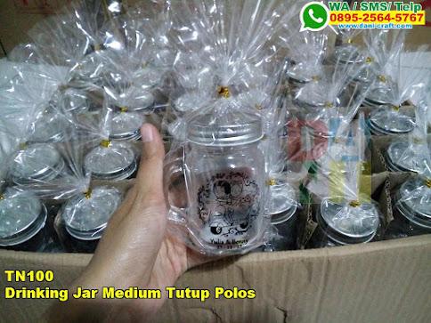 Jual Drinking Jar Medium Tutup Polos