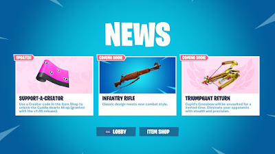 "Fortnite 7.40 Update Adding New Gun ""INFANTRY RIFLE"""