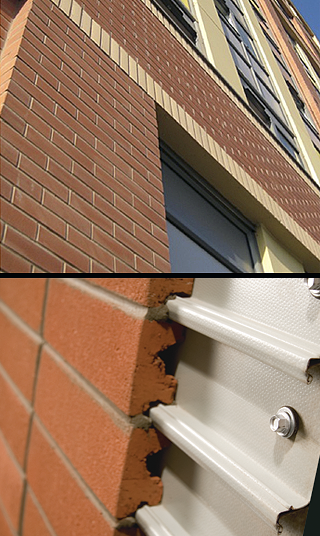 Corium Brick Cladding System Decor Units