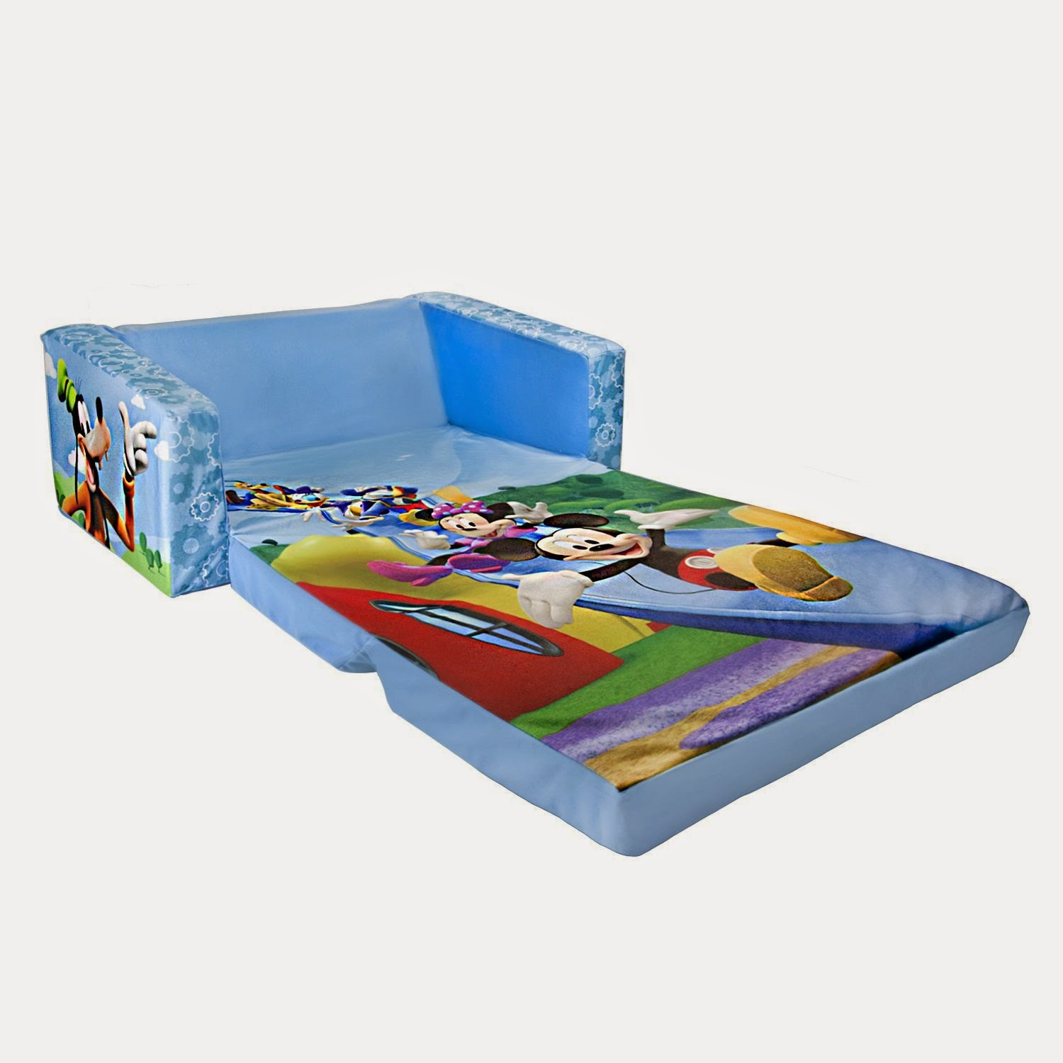 mickey mouse sofa click clack bed argos kids couch
