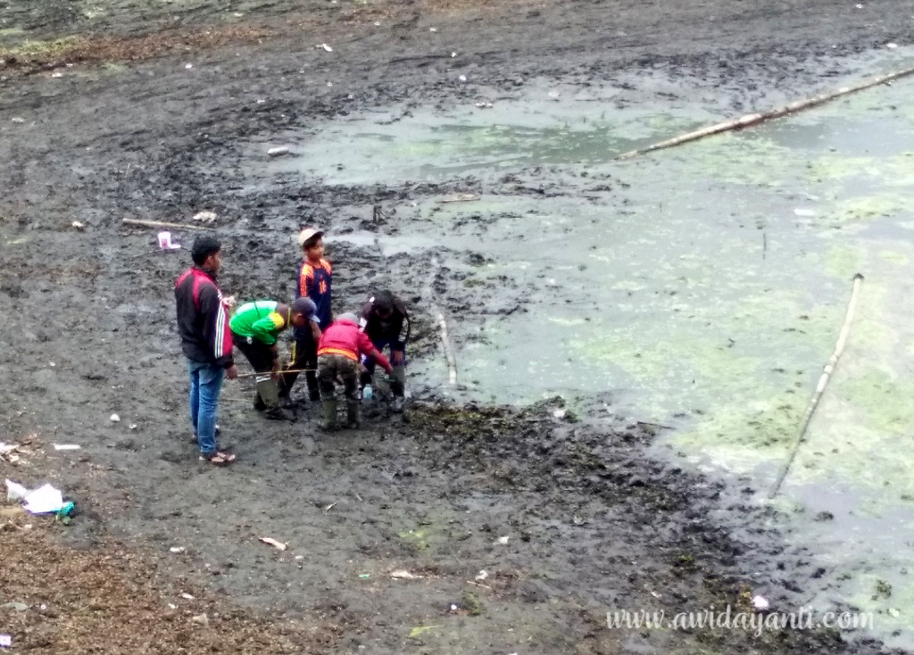 Anak-anak Ranupani sedang Mencari Ikan