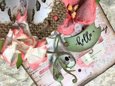 Sara Emily Barker https://sarascloset1.blogspot.com/2019/05/spring-tag-with-tim-holtz-tattered.html Spring Tag Tim Holtz Sizzix Tattered Butterfly Adorned Prima Havana 6