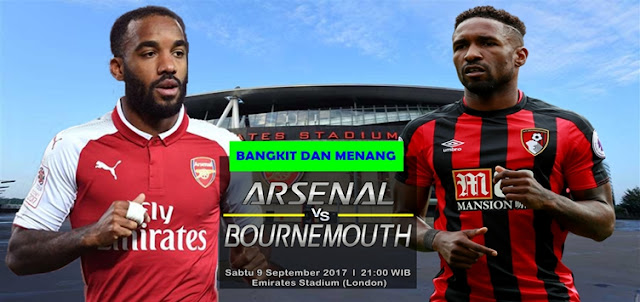 Prediksi Taruhan Bola 365 - Arsenal vs Bournemouth 9 September 2017