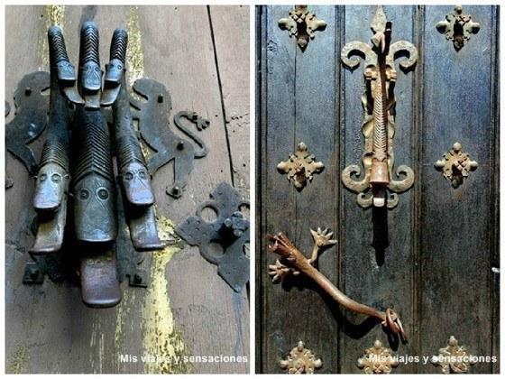 Llamadores en las puertas de las casas, Albarracín, Aragón, Teruel