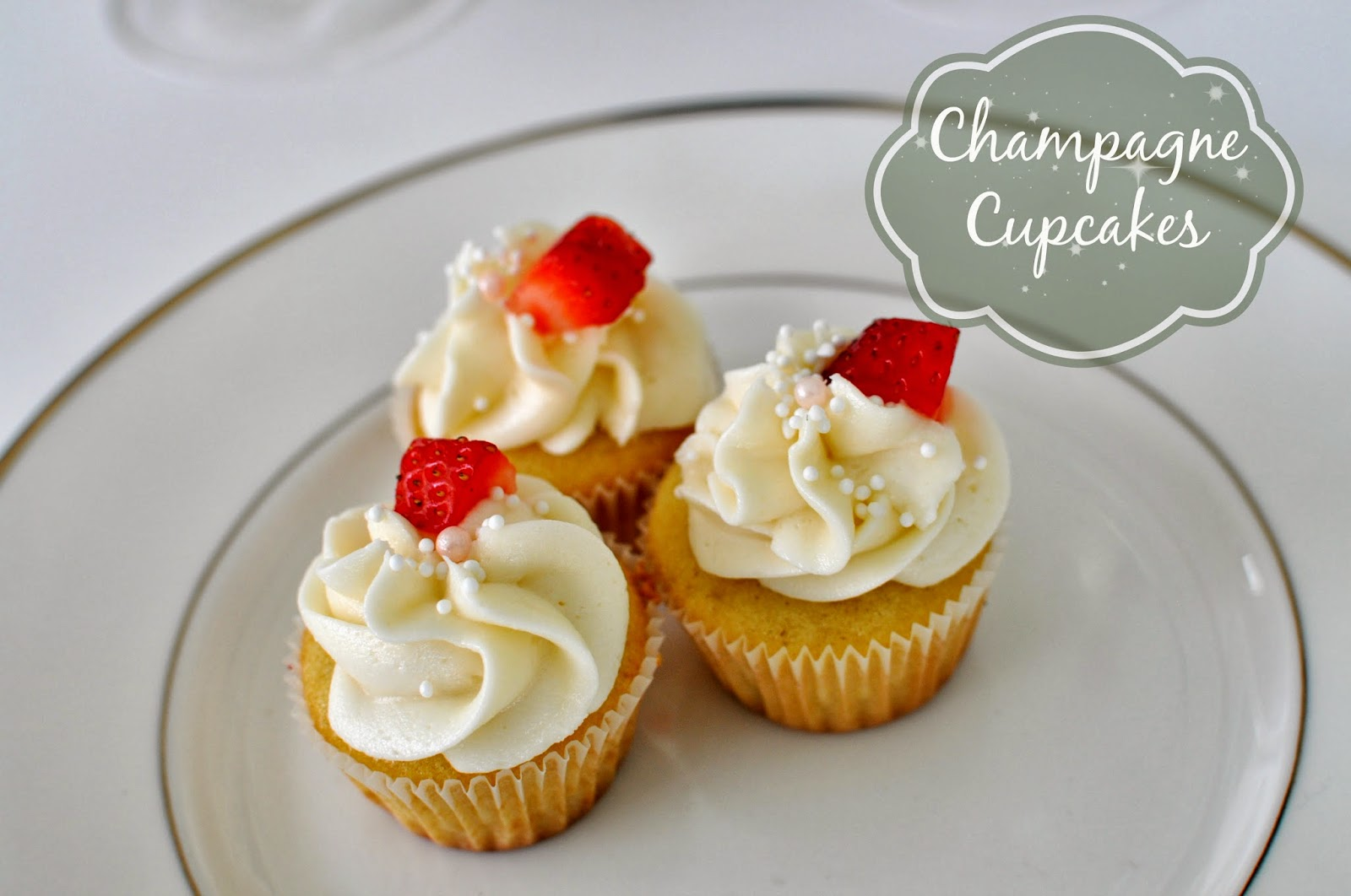 Champagne Cupcakes: