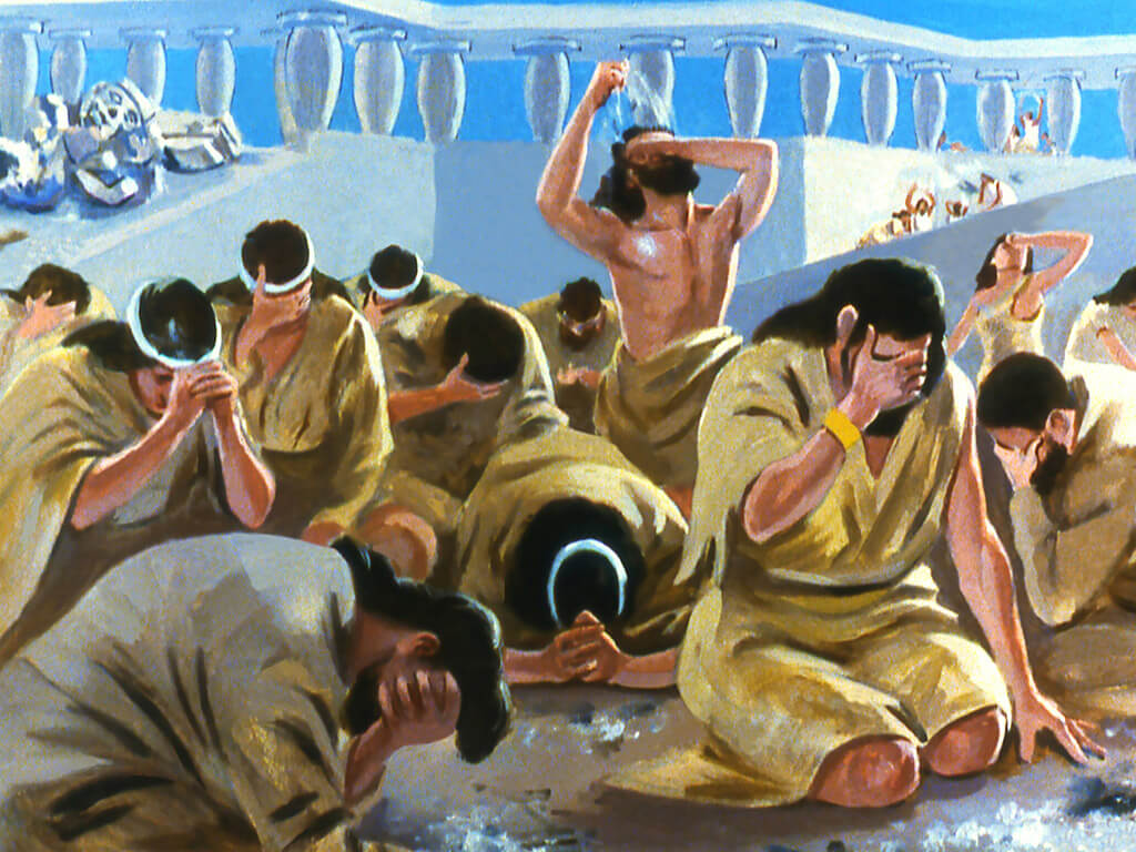 When the storm first broke, the sailors were described as being afraid (Jonah 1:5)