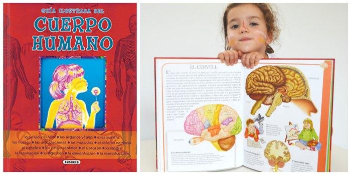 libros infantiles, materiales, actividades manualidades aprender cuerpo humano guia ilustrada susaeta