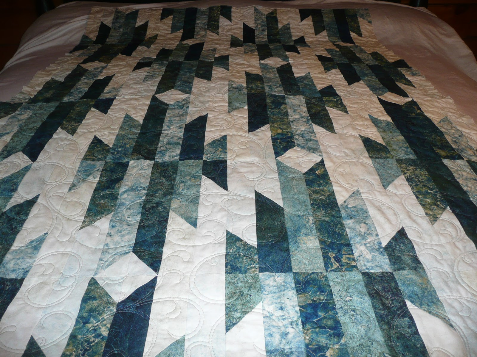 completed img by jewel aztec block quilt quilts jen