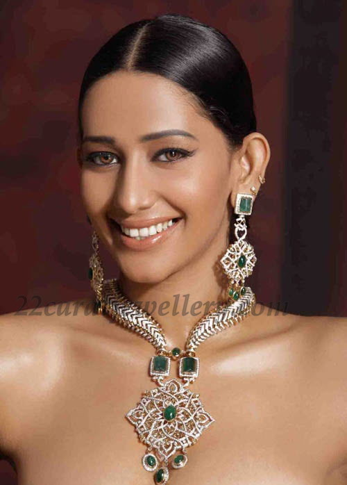 Tolly Actress In Heavy Diamond Bridal Set Jewellery Designs