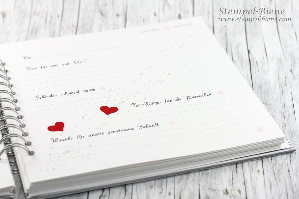 StempelBiene Gstebuch zur Hochzeit