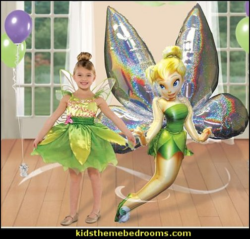 Disney Tinkerbell Airwalker  tinkerbell party supplies - Tinkerbell party decorations - Disney fairies party supplies - party themes fairies -  tinkerbell peter pan party supplies - tinkerbell costume - disney fairy costume -  tinkerbell balloons - Pixie Fairy Charms party  favor