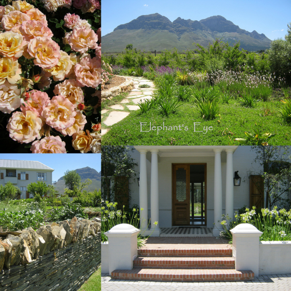 with a Karoo dry stone wall