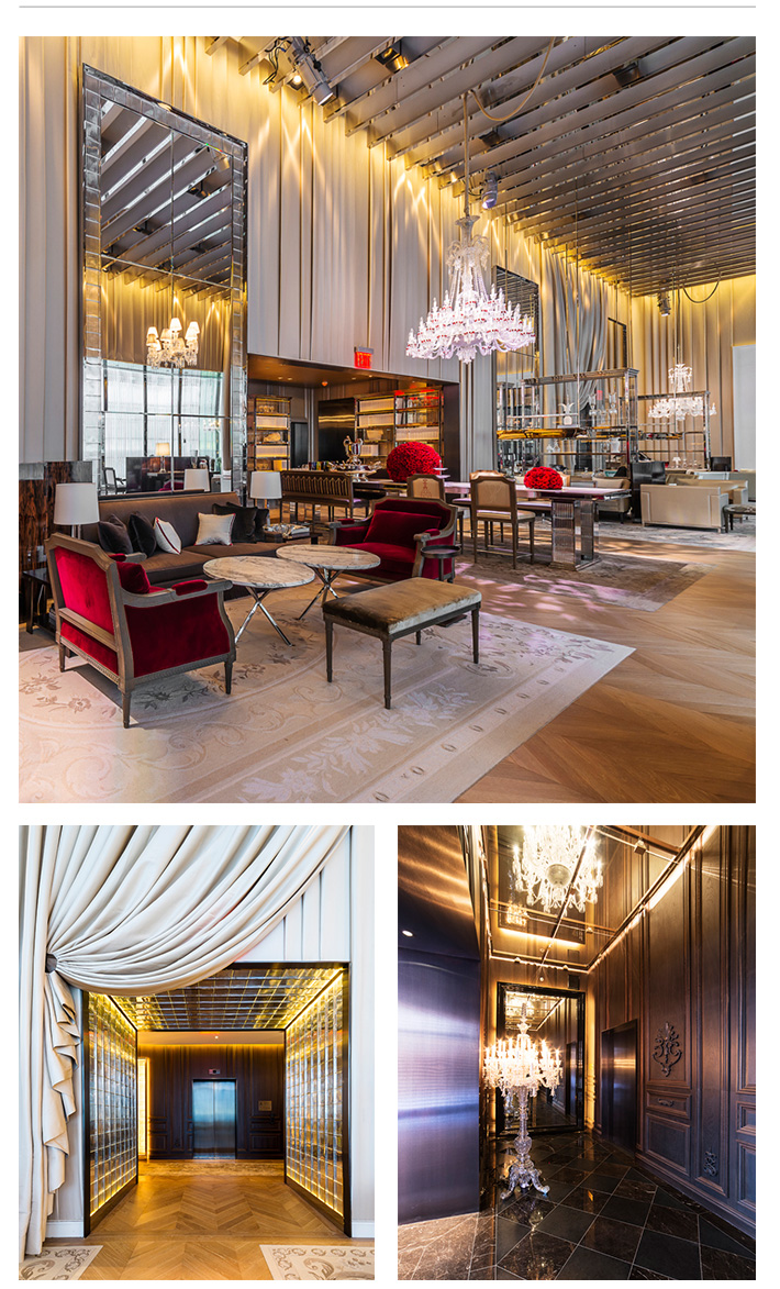 metalgraphic baccarat hotel nyc architectural metal and glass