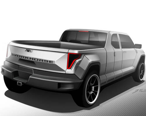 Tinuku.com Workhorse W-15 plug-in hybrid scheduled the first debut double cabin pickup truck electric power