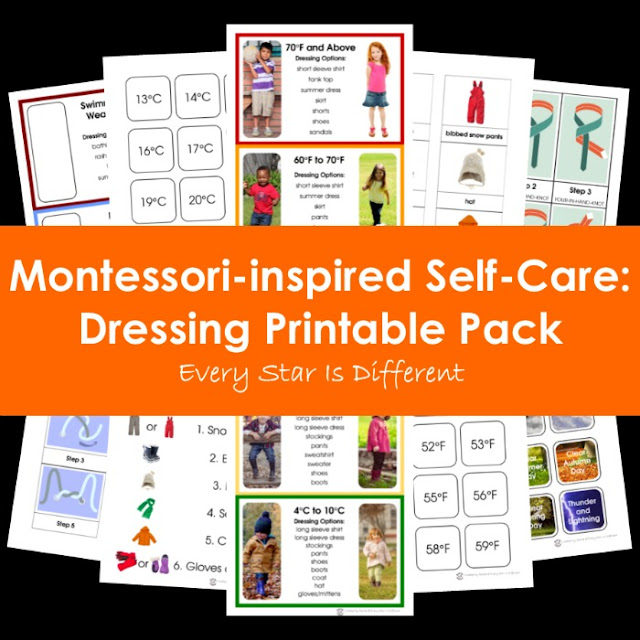 Montessori-inspired Self-Care: Dressing Printable Pack