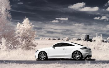 Wallpaper: Audi TT Coupe seen in infrared