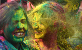 Holi celebrated in India