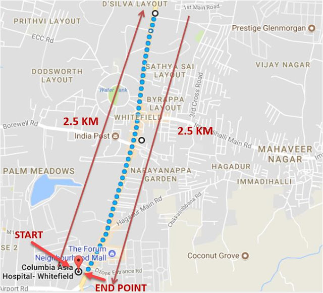 Columbia Asia Hospital, Whitefield to organize 5km & 10km Health Run in the city