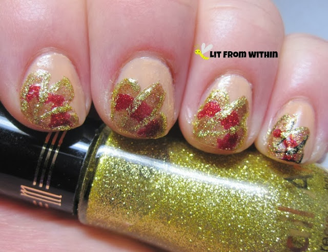 A gold glitter striper from Milani was better