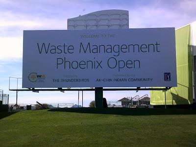 2016 Phoenix Open welcome sign