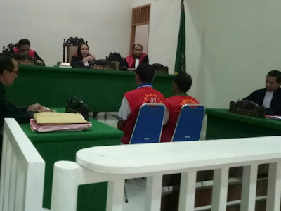 Pengedar Sabu di Tuntut 3 Tahun dan Pengguna 2 Tahun Penjara di PN Siantar